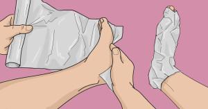 Лечение суставов фольгой